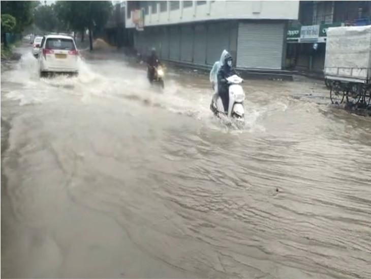 ગોંડલમાં મોટાભાગના વિસ્તારોમાં વરસાદ.